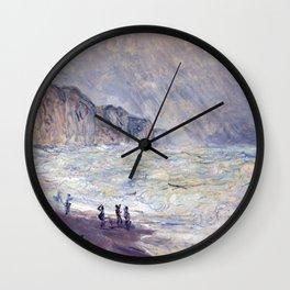 1897-Claude Monet-Heavy Sea at Pourville-73 x 101 Wall Clock