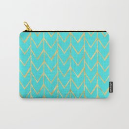 Festive Chevron Pattern Carry-All Pouch