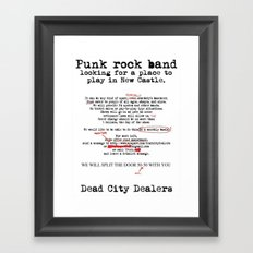 Punk Rock Band Framed Art Print