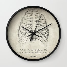 Breathe Quote Wall Clock