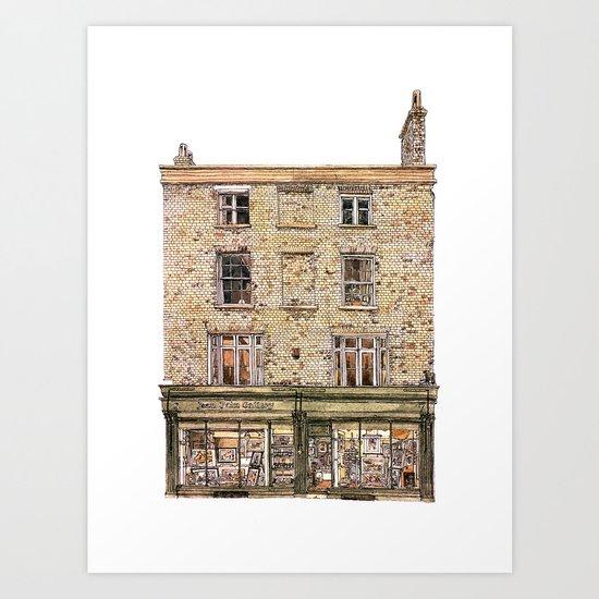 Print Gallery, Kings Parade, Cambridge, UK. Art Print