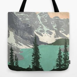 Moraine Lake Poster Tote Bag