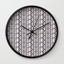 pattern art curtain Wall Clock
