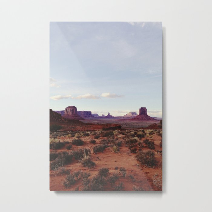 Monument Valley View Metal Print