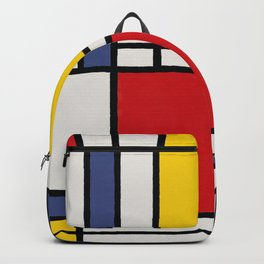 Abstract Mondrian Style Art Backpack