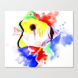 HAwaiian Coral Fish Canvas Print
