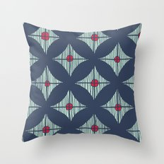 Repeat with Red Berries Throw Pillow