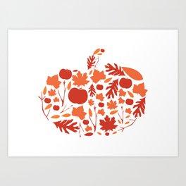 Autumn Pumpkin Print Art Print