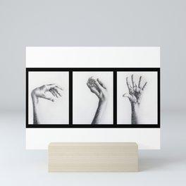 Hands triptych Mini Art Print