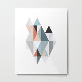 Geometric Facets 2 Metal Print