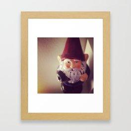 Garden Gnome Framed Art Print