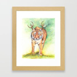What If...?? Tigers Had Antlers! Framed Art Print