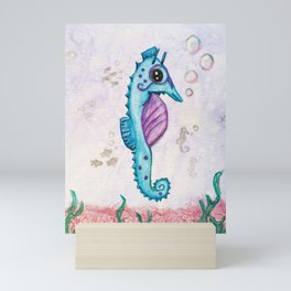 Born to Stand Out - Watercolor Seahorse Mini Art Print