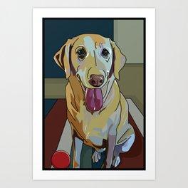 Latte Dog  Art Print