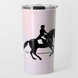 Elegant Dressage Rider Performing a Pirouette Travel Mug