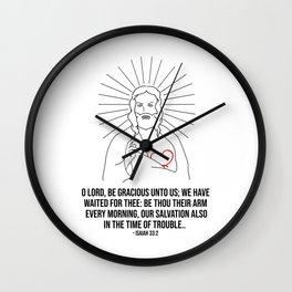 O Lord Be Gracious Unto Us Wall Clock