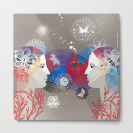 Twins Art Dream Metal Print