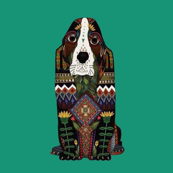 Basset Hound jade Comforters
