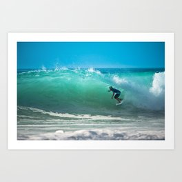 Hossegor Beach, France. Surf World tour Art Print