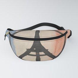 Paris Peace Symbol Eiffel Tower French Tricolor Fanny Pack