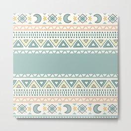 Colorful Geometric Boho Style 1 Metal Print