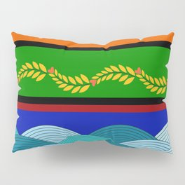 line and wave Pillow Sham
