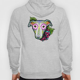 Greyhound - Whippet - Day of the Dead Sugar Skull Dog Hoody