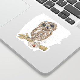 Owl Letter For You Sticker
