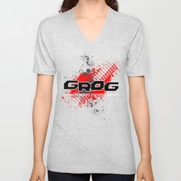 GROM Reapers Owners Group, Red Unisex V-Neck