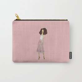 lady with pleated pink skirt Carry-All Pouch
