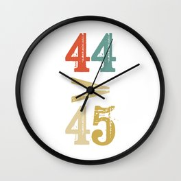 44 > 45 Anti Trump Impeach Wall Clock