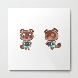 Timmy and Tommy Nook Animal Crossing New Horizons Metal Print