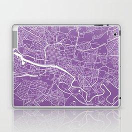 Glasgow map lilac Laptop & iPad Skin