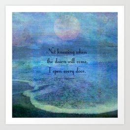 Emily Dickinson hope quote Art Print