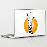 giraffes Laptop & iPad Skins featuring giraffes  by Eda ERKOVAN