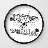 baltimore Wall Clocks featuring Baltimore by Lasafro