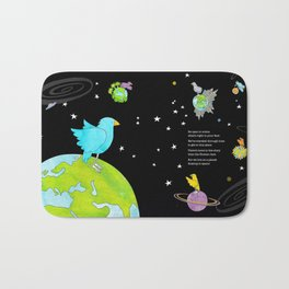 """Floating In Space (from the book, """"You, the Magician"""") Bath Mat"""