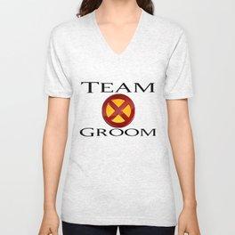 Team Groom X-Men Unisex V-Neck