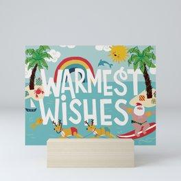 Surfer Santa Mini Art Print