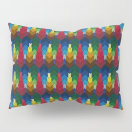 Trees in the style of bargello needle point Pillow Sham