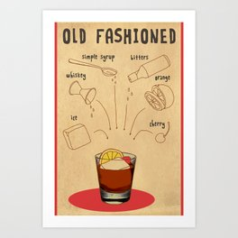 HOW TO: OLD FASHIONED Art Print
