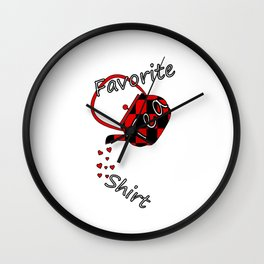 Tea Shirt Wall Clock