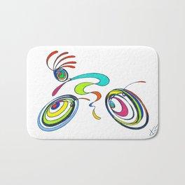 Bicycle - Kokopelli rides again Bath Mat