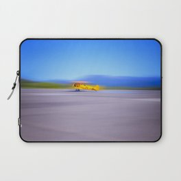 Just a Blur a classic two seater airplane Laptop Sleeve