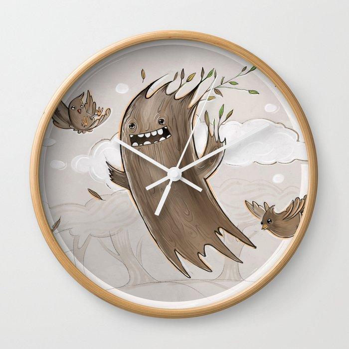 Free like a tree Wall Clock