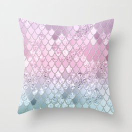 Mermaid Glitter Scales #2 #shiny #decor #art #society6 Throw Pillow