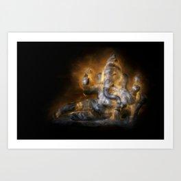 Reclining Ganesha Art Print