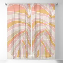 Tropical Leaf, 1975 Sheer Curtain