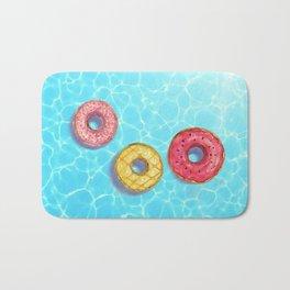 Donuts pool party_ watercolour Bath Mat