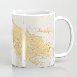 Vintage Map of St Thomas (1922) Coffee Mug
